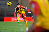 FOOTBALL - FRENCH CHAMPIONSHIP 2010/2011 - L1 - MONTPELLIER HSC v RC LENS - 19/03/2011 - PHOTO SYLVAIN THOMAS / DPPI - ADIL HERMACH (RCL)