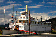 The SS Keno riverboat in the historic gold rush town of Dawson City, Yukon Territory, Canada.