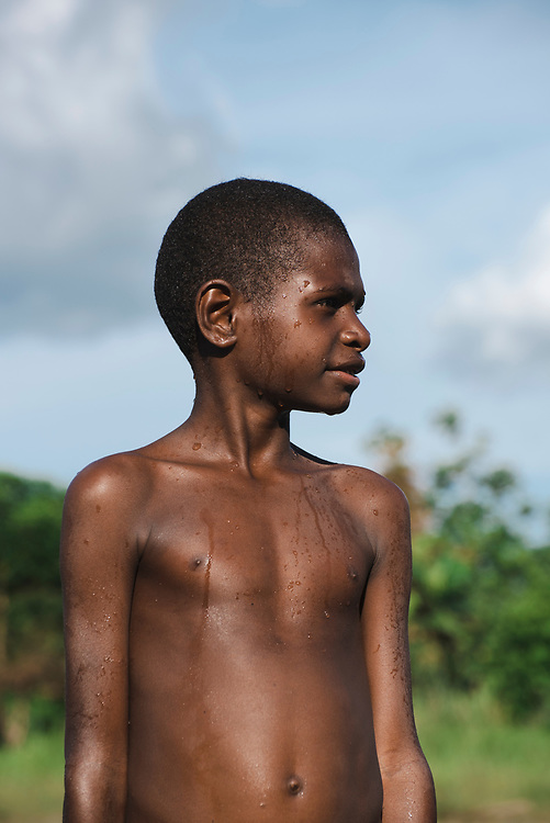 Portrait of a boy at the Clay River in Likan, Papua New Guinea<br /><br />(June 20, 2019)