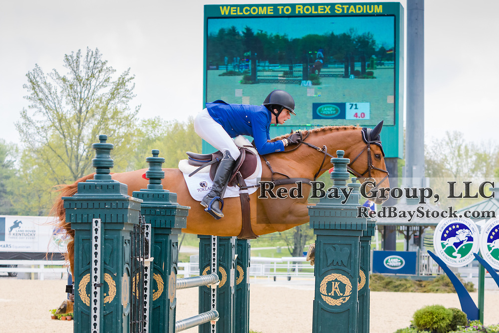 Jennie Brannigan (USA) and FE Lifestyle at the Land Rover Kentucky Three-Day Event presented by MARS Equestrian held in Lexington, KY.