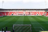 A view of the Doncaster Rovers' pitch before the EFL Sky Bet League 1 match between Doncaster Rovers and AFC Wimbledon at the Keepmoat Stadium, Doncaster, England on 17 November 2018.