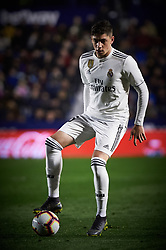 February 24, 2019 - Valencia, Valencia, Spain - Fede Valverde of Real Madrid during the La Liga match between Levante and Real Madrid at Estadio Ciutat de Valencia on February 24, 2019 in Valencia, Spain. (Credit Image: © Maria Jose Segovia/NurPhoto via ZUMA Press)