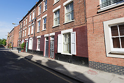 © Licensed to London News Pictures. 21/05/2015. London, UK. General view of houses in Winkley Street in Bethnal Green. William Lincoln of Winkley Street, E1 has been charged with conspiracy to burgle following the Hatton Garden heist. Photo credit : Vickie Flores/LNP