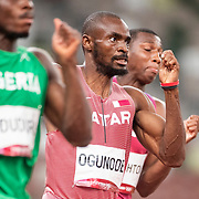 TOKYO, JAPAN August 3:  Femi Ogunode of Qatar in action in the Men's 200m Semi-Final 1 for Men at the Olympic Stadium during the Tokyo 2020 Summer Olympic Games on August 3rd, 2021 in Tokyo, Japan. (Photo by Tim Clayton/Corbis via Getty Images)