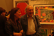 Emma Reeves and William Klein, Tal R. Minus. Victoria Miro Gallery. 13 May 2006. ONE TIME USE ONLY - DO NOT ARCHIVE  © Copyright Photograph by Dafydd Jones 66 Stockwell Park Rd. London SW9 0DA Tel 020 7733 0108 www.dafjones.com