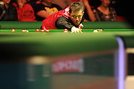 Mark Allen of Ireland in action during his match against Stephen Henry.   888 Welsh open snooker day 4 action at the Newport Centre in Newport , South Wales on Thursday 16th Feb 2012.  pic by Andrew Orchard, Andrew Orchard sports photography,