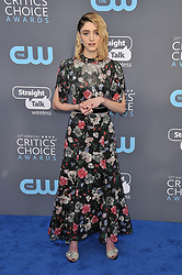 Natalia Dyer at The 23rd Annual Critics' Choice Awards held at the Barker Hangar on January 11, 2018 in Santa Monica, CA, USA (Photo by Sthanlee B. Mirador/Sipa USA)