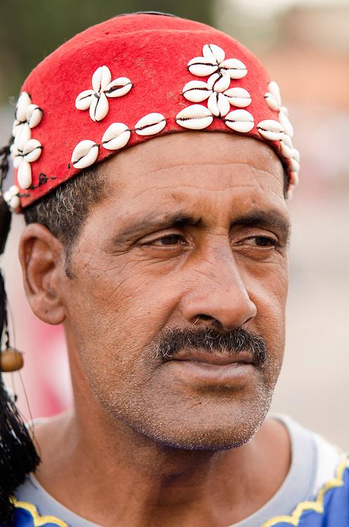 Street performer in Jemaa El Fna Marrakech Morocco