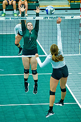 BLOOMINGTON, IL - August 24: Grace Sanders during  the IWU Titans Women<br /> s Volleyball Green-White scrimmage on August 24 2019 at Shirk Center in Bloomington, IL. (Photo by Alan Look)