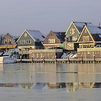 Europe, The Netherlands. Edam-Volendam in winter.