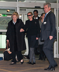 © Licensed to London News Pictures. 02/03/2012. London, UK. Queen Beatrix of the Netherlands (far left) and Princess Mabel of Orange-Nassau (centre) leaving The Wellington Hospital in London hand in hand today (02/03/2012) after visiting Prince Friso at His Hospital bed. Prince Johan Friso, who has been in a coma since a skiing accident two weeks ago, has been flown from Austria to the London Hospital. Photo credit : Ben Cawthra/LNP