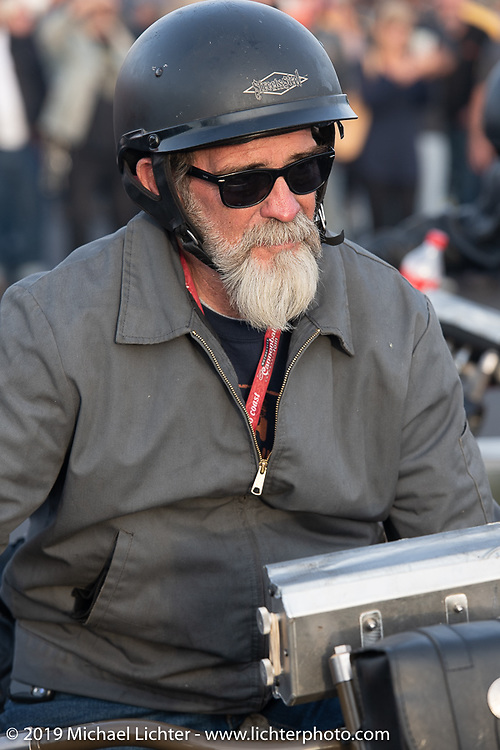 Bill Page on the Motorcycle Cannonball coast to coast vintage run. Stage 13 (254 miles) Kalispell, MT to Spokane, WA. Friday September 21, 2018. Photography ©2018 Michael Lichter.