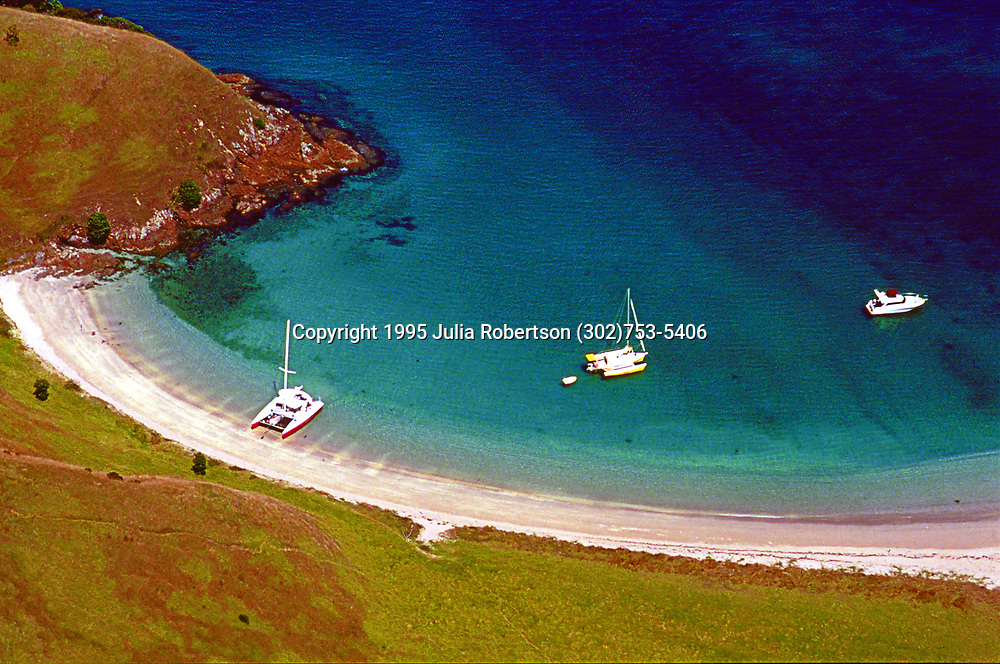 Aerial Photograph of the Bay of Islands, New Zealand
