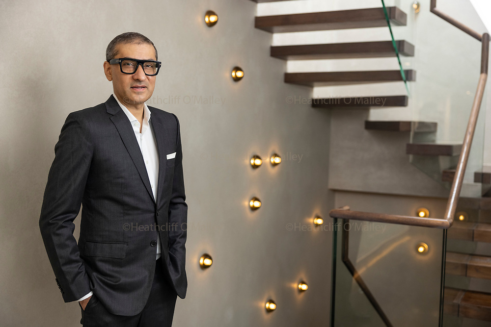 May0101538 . Daily Telegraph<br /> <br /> DT Business<br /> <br /> Rajeev Suri CEO of global mobile satellite communications company Inmarsat , photographed in London .<br /> <br /> London 3 September 2021