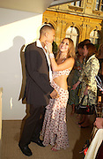 Charlotte Church and Kyle Johnston, Louis Vuitton classic and celebration of their 150 anniversary. Waddesdon Manor, June 4 2004. ONE TIME USE ONLY - DO NOT ARCHIVE  © Copyright Photograph by Dafydd Jones 66 Stockwell Park Rd. London SW9 0DA Tel 020 7733 0108 www.dafjones.com