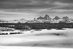 Winter, Grand Tetons, Teton Valley, Idaho