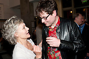 DIANA HARDCASTLE; JAMES MACDONALD; ( THE DIRECTOR) , Press night for Edwards Albee's A Delicate Balance at the Almeida Theatre. London. 12 May 2011. <br /> <br />  , -DO NOT ARCHIVE-© Copyright Photograph by Dafydd Jones. 248 Clapham Rd. London SW9 0PZ. Tel 0207 820 0771. www.dafjones.com.