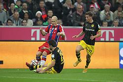 01-11-2014 GER: FC Bayern Munchen vs Borussia Dortmund, Munchen<br /> Arjen Robben #10 (FC Bayern Muenchen), Sokratis #25 (Borussia Dortmund) und Erik Durm #37 (Borussia Dortmund)<br /> *****NETHERLANDS ONLY*****