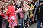 On Queensday, april 30th the Queen attends the celebrations of Queensday in Scheveningen near the Hague.<br /> This is her 25th jubilee.<br /> <br /> Op Koninginnedag, 30 april, is de Koningin  's Middags aanwezig metn en haar familie het koninginnedagfeest mee te vierten in Scheveningen.<br /> <br /> On The photo / On the Photo;<br />  Princes Laurentien / Prinses Laurentien