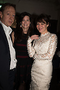 GEORDIE GREIG; KATHRYN GREIG; HELEN MCCORY, Nicky Haslam hosts dinner at  Gigi's for Leslie Caron. 22 Woodstock St. London. W1C 2AR. 25 March 2015