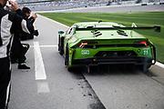 January 24-28, 2018. IMSA Weathertech Series ROLEX Daytona 24. 11 GRT Grasser Racing Team, Lamborghini Huracan GT3 driven by Rolf Ineichen, Mirko Bortolotti, Franck Perera, Rik Breukers wins the GTD class of the Daytona 24 hour.