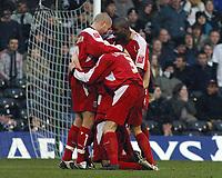 Photo: Paul Thomas.<br /> Fulham v Leyton Orient. The FA Cup. 08/01/2006.<br /> <br /> Orient celebrate Joe Kieth's goal.