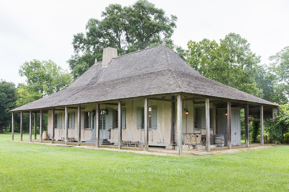 The Nicholas LaCour House, built in Pointe Coupee Parish in the mid-1700's is one of the oldest existing buildings in the Mississippi River Valley.