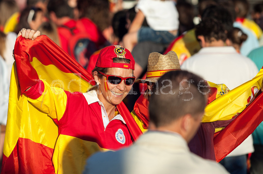 Infant Elena of Borbon during the celebration of Euro 2012 in Madrid