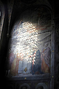 renaissance wall painting with sunlight Italy Padova