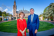 Princess Margaretha and Prince Radu of Rumania visit the Peace Palace in The Hague, The Netherlands