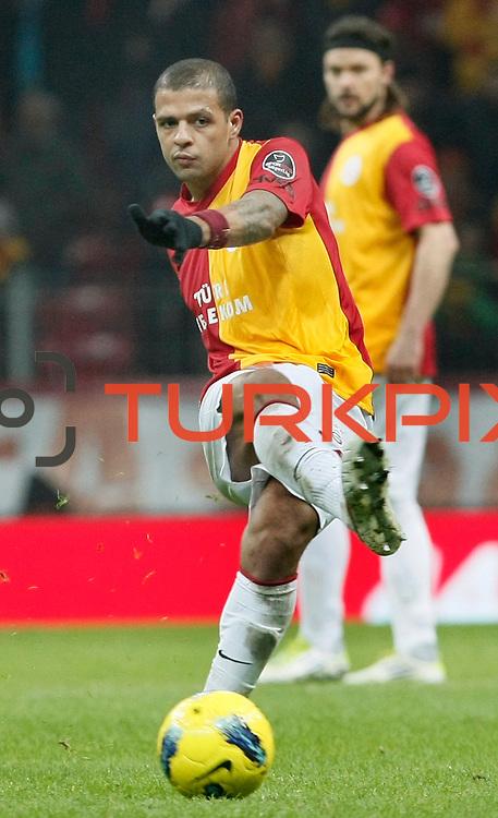 Galatasaray's Felipe Melo during their Turkish Super League soccer match Galatasaray between Kardemir Karabukspor at the Turk Telekom Arena at Seyrantepe in Istanbul Turkey on Saturday 14 January 2012. Photo by TURKPIX