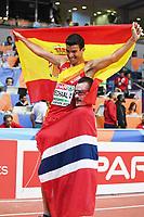 BILDET INNGÅR IKEK I FASTAVTALER. ALL NEDLASTING BLIR FAKTURERT.<br /> <br /> Friidrett<br /> Foto: imago/Digitalsport<br /> NORWAY ONLY<br /> <br /> Leichtathletik,EAA,Hallen Europameisterschaften 2017, European athletics indoor Championships 2017, Hallen EM 2017 Belgrad, 03-05.03.2017, Combankarena Belgrad, Adel Mechaaal Spanien, Henrik Ingbrigtsen Norwegen