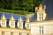 Evening light on the Chateau de Villandry, Villandry, Loire Valley, France