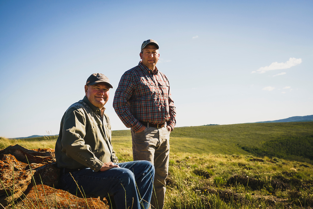 Birch Creek easement and conservation was made possible with help from the Rocky Mountain Elk Foundation. Landowners Allen and son Andrew Barber, Birch Creek, Utah.