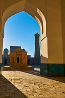 Ouzbekistan, Boukhara, patrimoine mondial de l Unesco, la mosquee et le minaret Kalon // Uzbekistan, Bukhara, Unesco world heritage, Kalon mosque and minaret