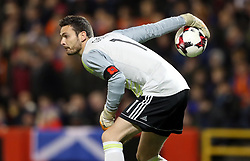 Scotland goalkeeper Craig Gordon wears a poppy armband during the International Friendly match at Pittodrie, Aberdeen. PRESS ASSOCIATION Photo. Picture date: Thursday November 9, 2017. See PA story SOCCER Scotland. Photo credit should read: Andrew Milligan/PA Wire. RESTRICTIONS: Use subject to Scottish FA restrictions. Editorial use only. Commercial use only with prior written consent of the Scottish FA. No editing except cropping.