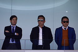 April 29, 2018 - Valencia, Valencia, Spain - Owner of Valencia CF Peter Lim (C), Executive Director of Valencia CF Koh Kim Huat (R), and General Director Mateu Alemany look on prior to the La Liga game between Valencia CF and SD Eibar at Mestalla on April 29, 2018 in Valencia, Spain  (Credit Image: © David Aliaga/NurPhoto via ZUMA Press)