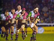 Twickenham, Surrey, 11th November 2002, Zurich Premiership Rugby, Stoop Memorial Ground, England,<br /> [Mandatory Credit: Peter Spurrier/Intersport Images],Zurich Premiership Rugby Harlequins v Saracens<br /> Andre Vos