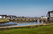 The Fifteenth century bridge across the River Camel in Wadebridge, North Cornwall, United Kingdom.