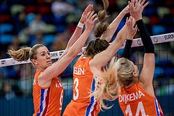 01-10-2017 AZE: Final CEV European Volleyball Nederland - Servie, Baku<br /> Nederland verliest opnieuw de finale op een EK. Servië was met 3-1 te sterk / Maret Balkestein-Grothues #6 of Netherlands