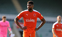 Blackpool's Michael Nottingham looks dejected at the final whistle<br /> <br /> Photographer Ian Cook/CameraSport<br /> <br /> The EFL Sky Bet League One - Plymouth Argyle v Blackpool - Saturday September 12th 2020 - Home Park - Plymouth<br /> <br /> World Copyright © 2020 CameraSport. All rights reserved. 43 Linden Ave. Countesthorpe. Leicester. England. LE8 5PG - Tel: +44 (0) 116 277 4147 - admin@camerasport.com - www.camerasport.com