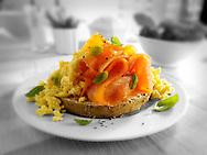 Smoked Salmon & scrambled eggs Bagel