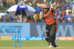 April 29, 2018 - Jaipur, Rajasthan, India - Sunrisers  Hyderabad batsman Wriddhiman Saha   plays a shot during the IPL T20 match against Rajasthan Royals at Sawai Mansingh Stadium in Jaipur on 29th April,2018. (Credit Image: © Vishal Bhatnagar/NurPhoto via ZUMA Press)