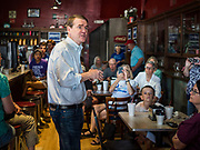 27 JULY 2019 - INDIANOLA, IOWA: US Senator MICHAEL BENNET (D-CO) talks to a group of central Iowa voters at a cafe in Indianola Saturday. Sen. Bennet is running for the Democratic nomination for the US Presidency in the 2020 election. Iowa traditionally hosts the the first election event of the presidential election cycle. The Iowa Caucuses will be on Feb. 3, 2020.           PHOTO BY JACK KURTZ