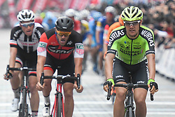 October 14, 2018 - Istanbul, Turkey - Eduard Prades Reverter (Right) of Spain and Euskadi Basque Country-Murias finishes second the sixth stage and wins the general classification of the 54th Presidential Cycling Tour of Turkey 2018. .On Sunday, October 14, 2018, in Istanbul, Turkey. (Credit Image: © Artur Widak/NurPhoto via ZUMA Press)