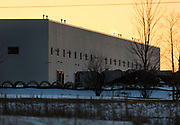 Exterior view of the first building constructed on Foxconn's Mount Pleasant technology campus in Mount Pleasant, Wisconsin, Sunday, March 3, 2019.