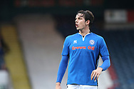 M.J. Williams during the EFL Sky Bet League 1 match between Rochdale and Gillingham at Spotland, Rochdale, England on 23 September 2017. Photo by Daniel Youngs.