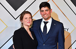 Alastair Cook and wife Alice during the red carpet arrivals for the BBC Sports Personality of the Year 2018 at The Vox at Resorts World Birmingham.