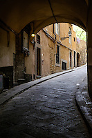 FLORENCE, ITALY - CIRCA MAY 2015:  Typical street in Florence.