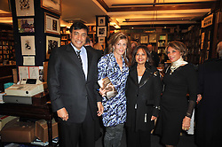 Multi millionaire LAKSHMI MITTAL, MARYAM SACHS, USHA MITTAL and AZAR BANIHASHEM at a party to celebrate the publication of Maryam Sach's novel 'Without Saying Goodbye' held at Sotheran's Bookshop, 2 Sackville Street, London on 10th November 2009.